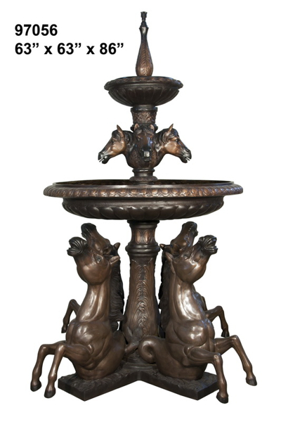 Bronze Horse Fountains - AF 97056