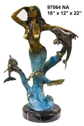 Bronze Mermaid Statues - AF 58586NA
