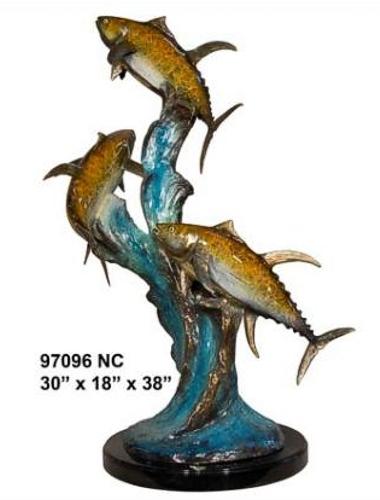 Bronze Tuna Statue - AF 97076NB