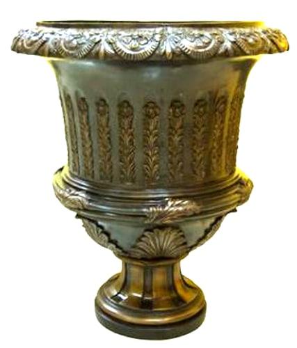 Bronze Flutted Planter Urn - AF 97108
