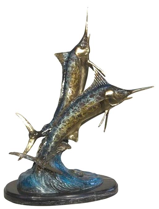 Bronze Swordfish Sculptures - AF 97124NB