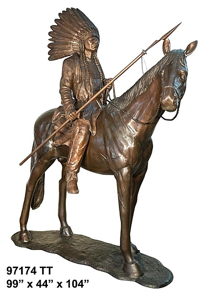 Bronze Indian Chief Statue