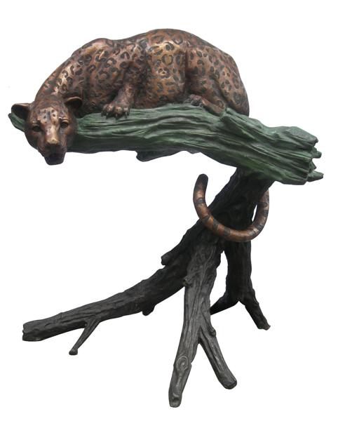 Bronze Leopard Statues - DD A-056A