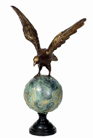 Bronze Eagle Statues - DD A-106