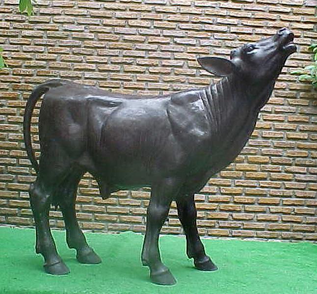 Bronze Calf Statue - PA A-1064B