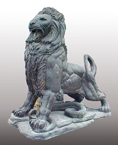 Bronze Lion Statues - PA A-1078