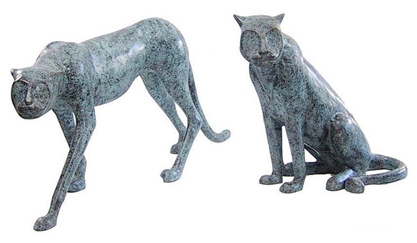 Bronze Leopard Statues - DD A-132