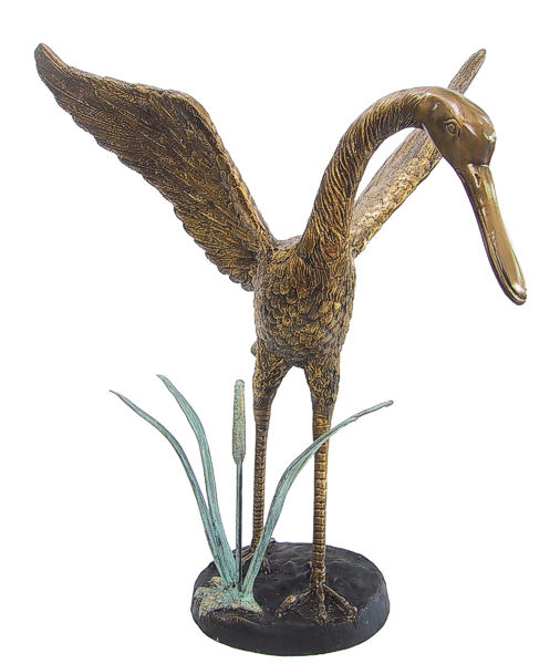 Bronze Bird Flapping Wings Fountain - DD A-165