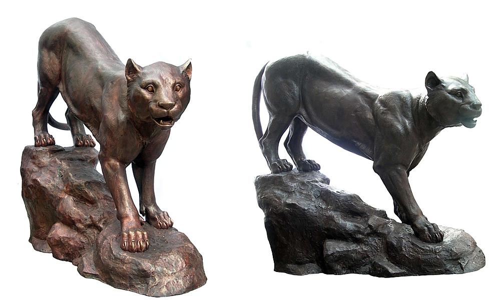 Bronze Puma Statues - DD A-207