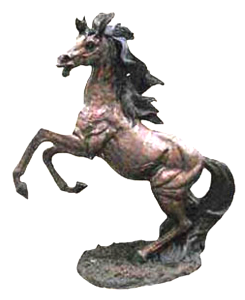 Bronze Rearing Horse Statue - DD A-232