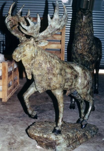Bronze Moose Statue - DD A-285