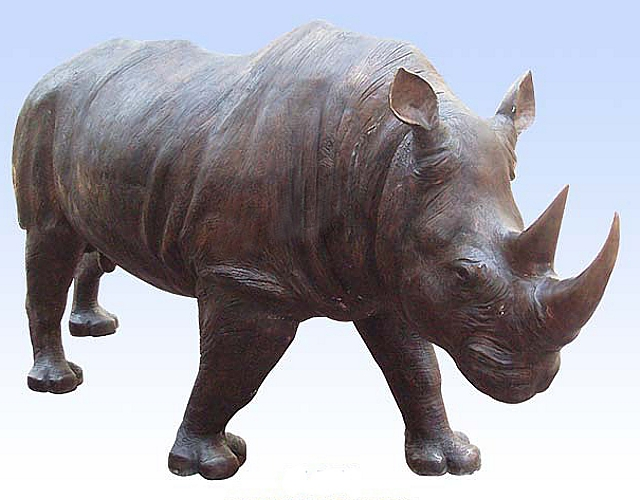 Bronze Rhinoceros Statues - DD A-288