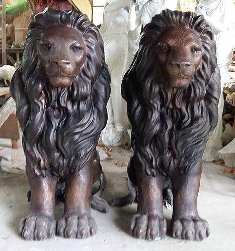 Bronze Lion Statues - DD A-297