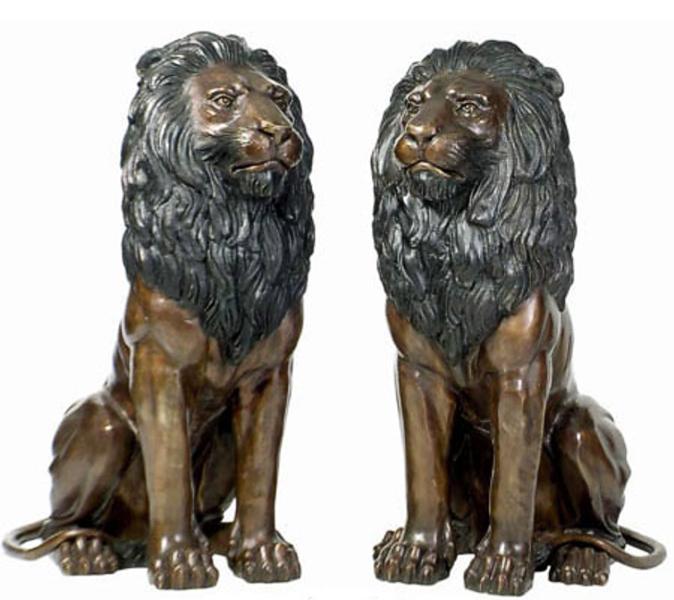 Bronze Lion Statues - DD A-067
