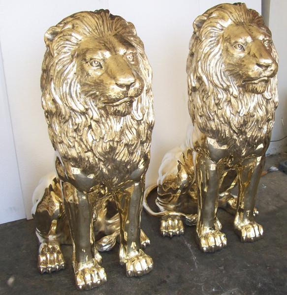 Bronze Lion Statues - DD A-067G