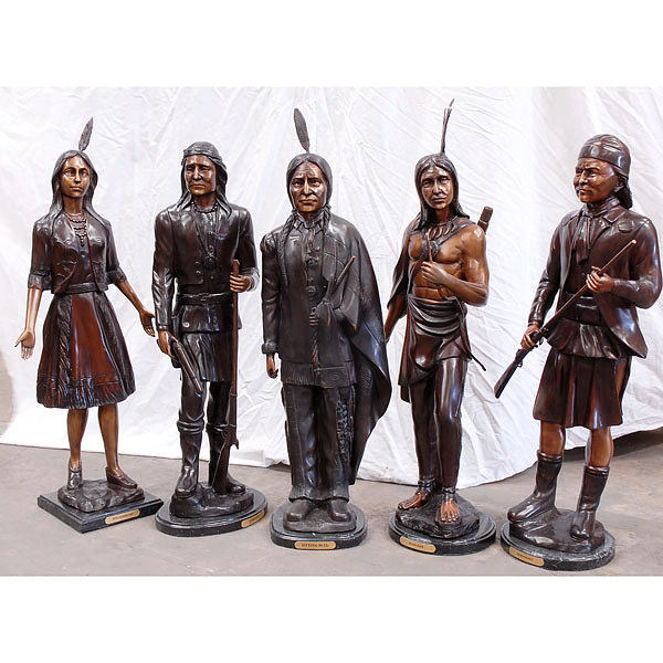 Bronze Indian Legends Statues - AF 18888