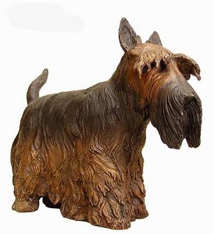 Bronze Scottish Terrier Statue