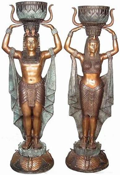 Bronze Egyptian Urns - AF 74290/2