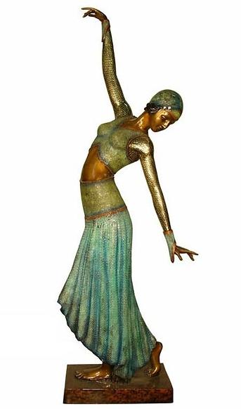 Bronze Dancing Lady Statue - AF 94050 NA