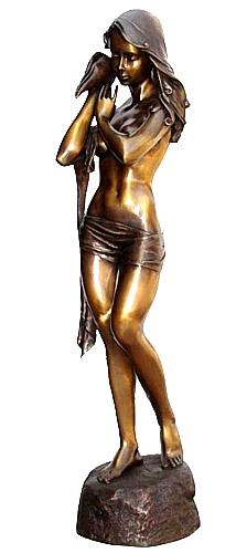 Bronze Sexy Lady Statue - KT P-812