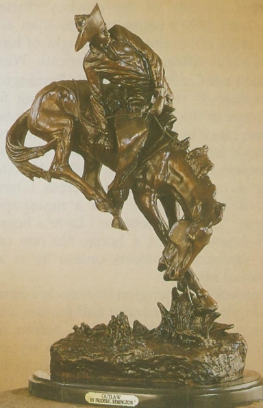 Bronze Remington Outlaw Statue - ASB 008