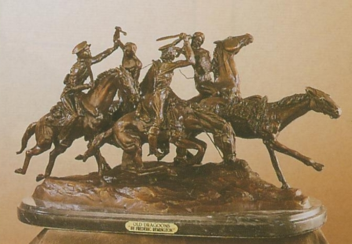 Bronze Remington Old Dragoons Statue - ASB 016