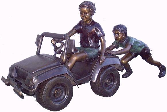 "Bronze Boy Racer Statue ""Future NASCAR Driver"" - ASB 851M"