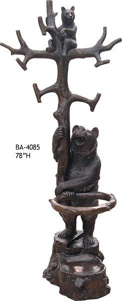 Bronze Bear Statues