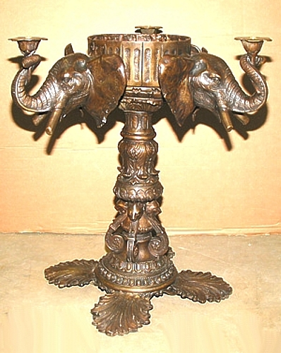 Bronze Elephant Dining Room Table Base - ASI BA-4135