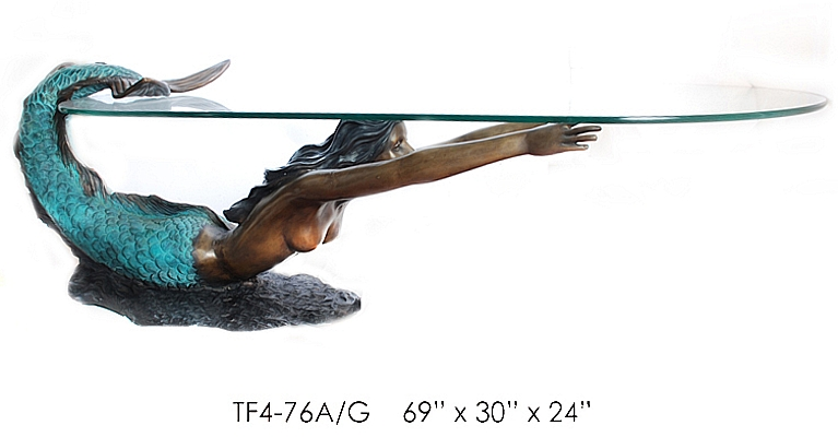 Bronze Mermaid Tables - ASI TF4-76A