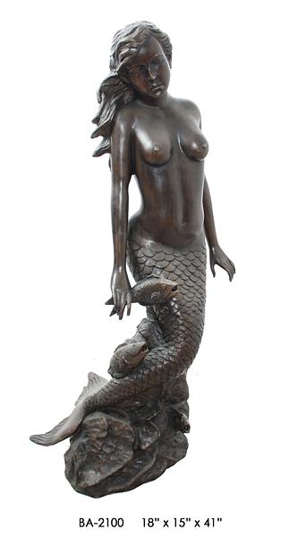 Bronze Mermaid Statues - ASI BA-2100-S