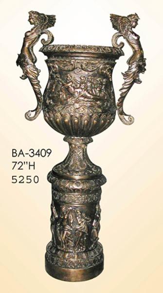 Bronze Winged Lady Planter Urn - ASI BA-3409