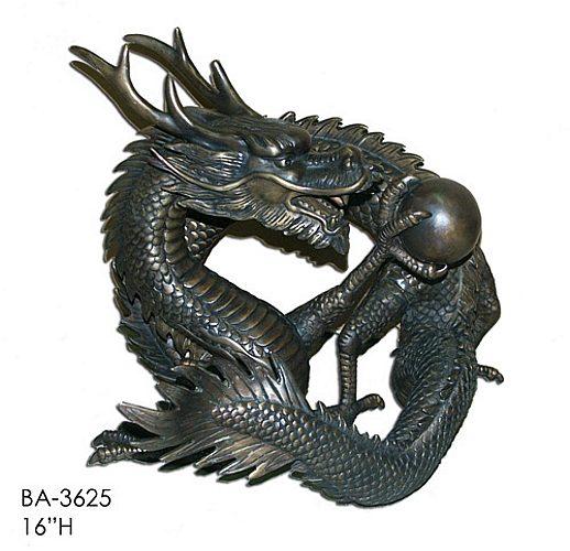 Bronze Dragon Statues - ASI BA-3625-S