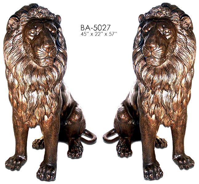 Bronze Lion Statues - ASI BA-5027