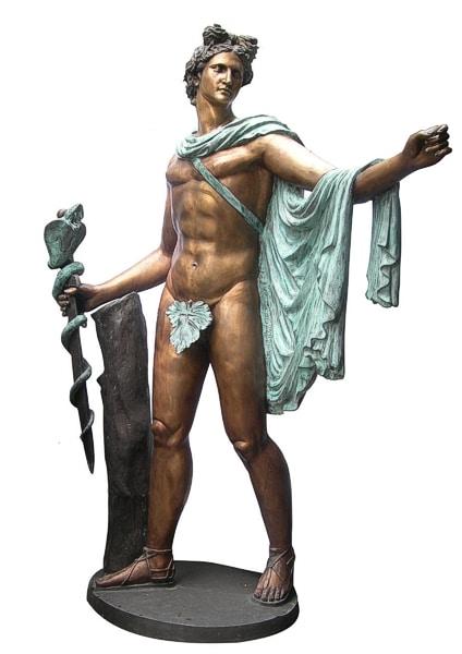 Bronze Apollo Fountain