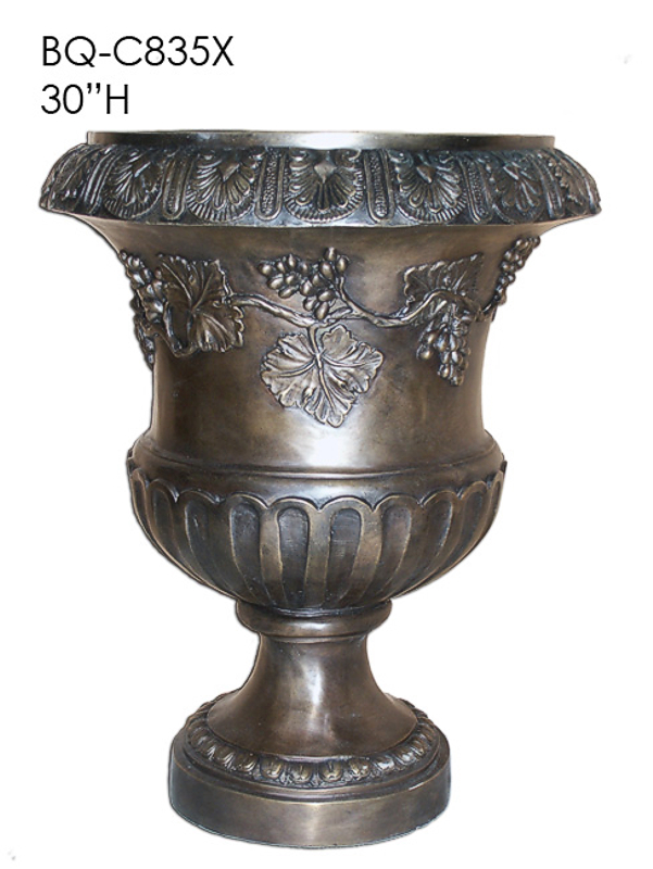 Bronze Grape Design Planter Urn - ASI BQ-C835X