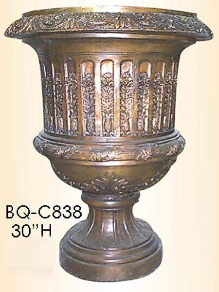 Bronze Planter Urn Flower Design - ASI BQ-C838