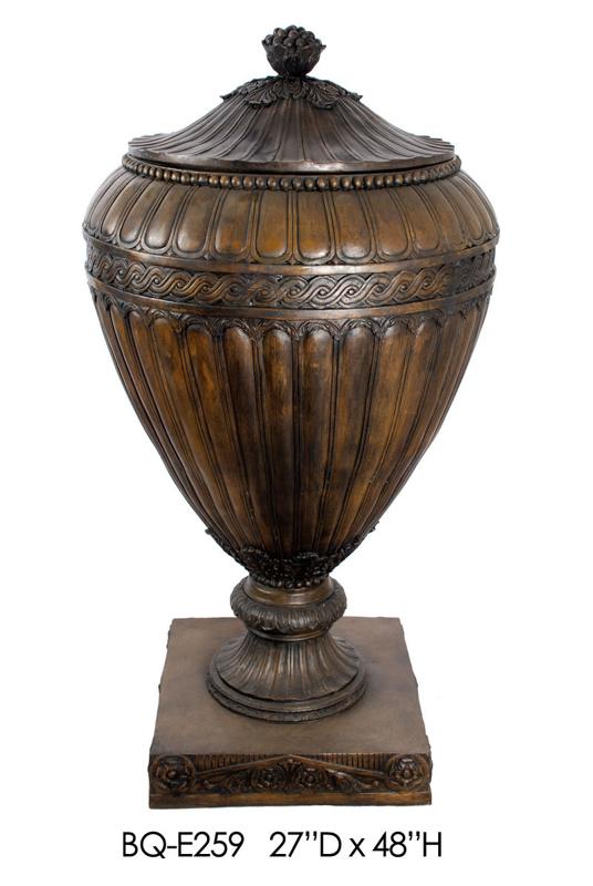 Bronze Urn with Lid - ASI BQ-E259