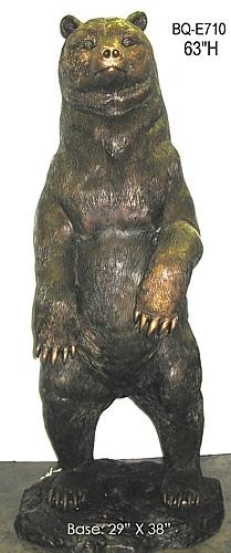 Standing Bronze Bear Statue - ASI BQ-E710