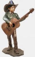 Bronze Cowboy Playing Guitar