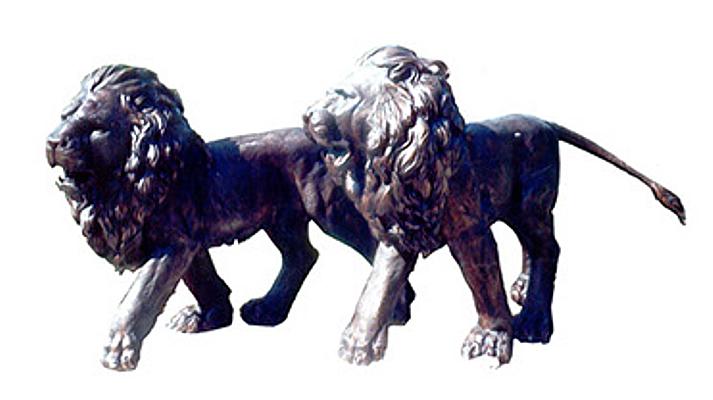 Bronze Lion Statues - DK 1773