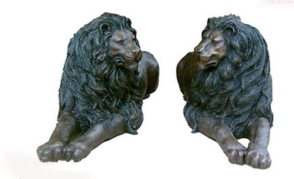 Bronze Lion Statues - DK 1838