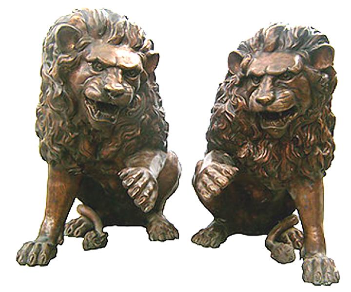 Bronze Lion Statues - DK 1998