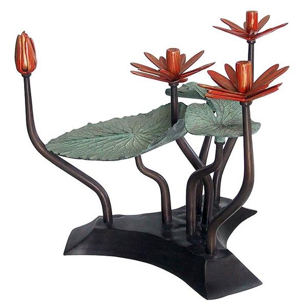 Bronze Lotus Leaf Table - DK 12