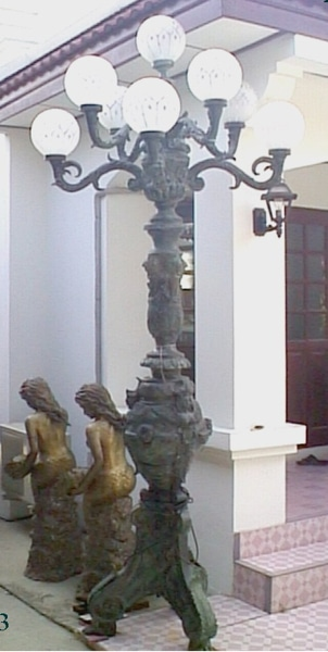 Bronze Lamp Torchiere