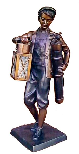 Bronze Caddie Lantern Statue - DK 1568