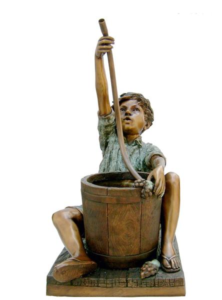Bronze Boy & Bucket Fountain - DK 1576