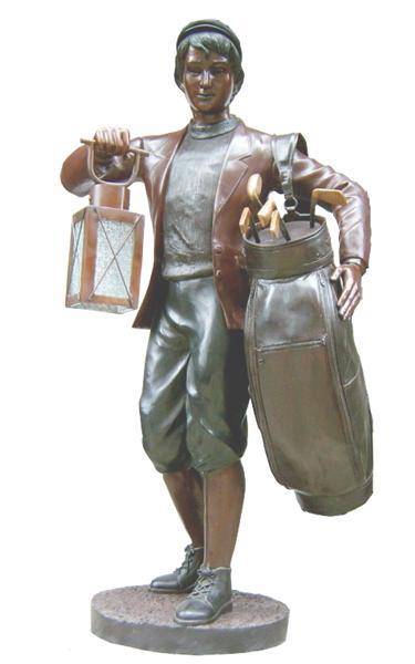 Bronze Caddie Lantern Statue - DK 1728