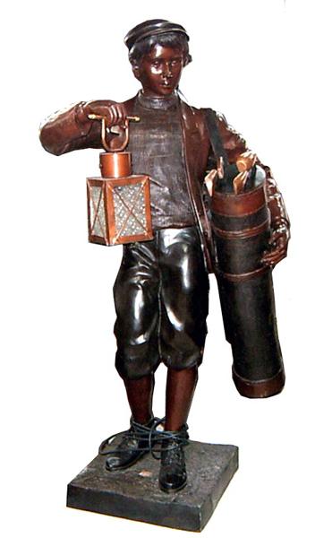 Bronze Caddie Lantern Statue - DK 1799