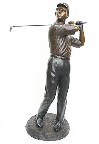 Bronze Golfer Teeing Off Statues